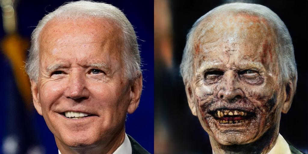 Joe Biden as a Zombie