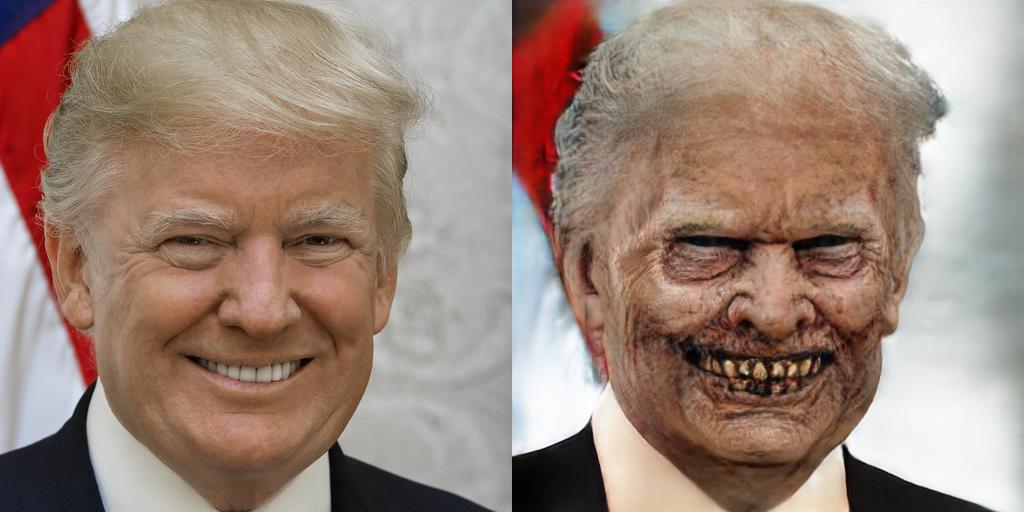 Donald Trump as a Zombie