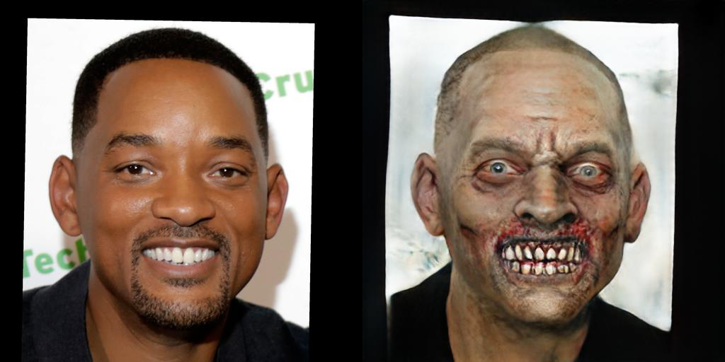 Will Smith as a Zombie
